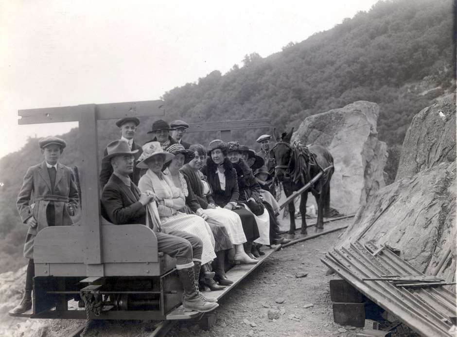 The One Man and a Mule Railway at Mount Lowe